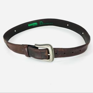 Resistol leather cowboy belt